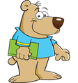 Cartoon Bear with Book vector image vector image