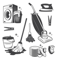 Cleaning set vector image vector image