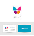 colorful butterfly logo vector image vector image