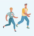couple of man and woman running together jogging vector image vector image