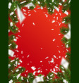 design christmas background with copy space vector image vector image