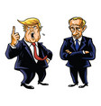 donald trump and vladimir putin cartoon vector image vector image