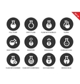 Flask icons on white background vector image vector image