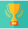 Flat Icon Champion Trophy Cup Victory Success Win vector image