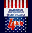 fourth july poster vector image