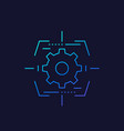 gear and target linear icon vector image vector image