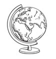 hand drawn school globe vector image