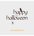 Happy Halloween icon with spider web raven vector image vector image