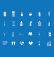 icons on medical subjects vector image