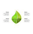 infographic template green leaf vector image vector image