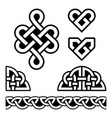 irish celtic braids and knots pattern set vector image vector image