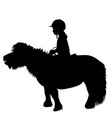 kid riding a pony vector image vector image