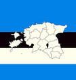 map and flag of estonia vector image vector image