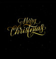 merry christmas gold glitter design for cards vector image