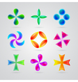 Modern colorful symbols for your design vector image vector image