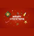 modern merry christmas greeting card vector image vector image