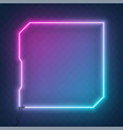 neon square tech sci fi hologram frame border vector image