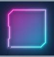Neon square tech sci fi hologram frame border