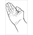 Open empty hand vector image vector image