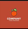 orange fruit logo design concept vector image vector image