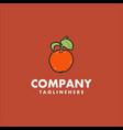 orange fruit logo design concept vector image
