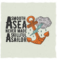original nautical poster vector image vector image