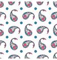 paisley hand drawn seamless pattern vector image vector image