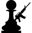 Pawn assault gun vector image vector image
