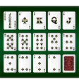 Playing cards Set Clubs vector image