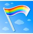 rainbow flag vector image vector image