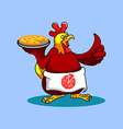 Rooster Chef Pizza vector image