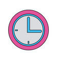 school clock time hour analog icon vector image vector image