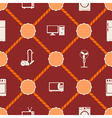 Seamless background with home technics vector image vector image