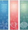 seashell card6 vector image vector image