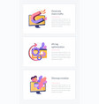 seo results webpage template vector image vector image