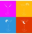 Set of the stylized martini glass in four variants vector image