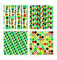 set pattern of four geometric shapes Colorful vector image