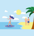 summer time vacations vector image vector image