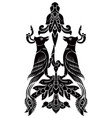 two bird tattoo vector image vector image