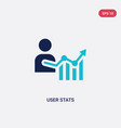 two color user stats icon from business and vector image vector image