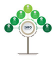 vertical green time line infographics tree of vector image vector image
