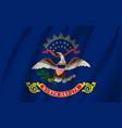 waving flag north dakota 10 eps vector image vector image