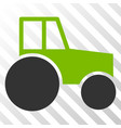wheeled tractor eps icon vector image vector image