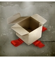 White cardboard box old style vector image vector image