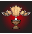 wooden award vector image vector image