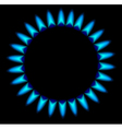 gas stove burner vector image