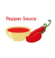 pepper sauce hot chili condiment ketchup vector image