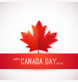 1st july canada day design template with red vector image vector image