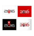 2016 New Year card or background with monkey Happy vector image