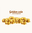 a lot coins on white background jackpot or vector image vector image